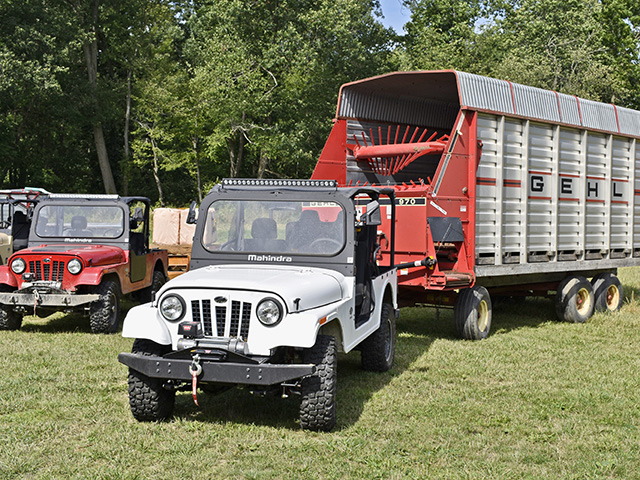 The Roxor can tow up to 3,490 pounds, making it a good fit for hauling this trailer used at Top Hops Farm in Goodrich, Michigan. (Progressive Farmer image by Chris Hill)
