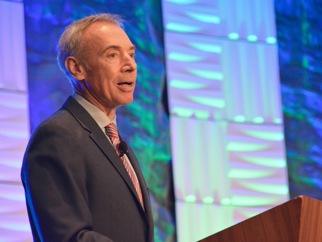 Deputy Agriculture Secretary Steve Censky spoke Thursday about technology and research being done  at USDA to help farmers increase food production and cope with climate change. (DTN photo by Chris Clayton)