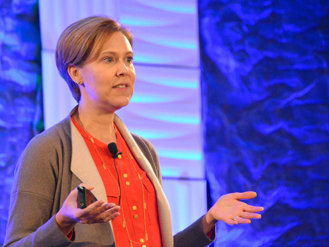 Darci Vetter, former agricultural negotiator for the U.S. Trade Representative's Office during the Obama administration, talks about how global climate and sustainability rules could affect U.S. agricultural trade in the coming years. (DTN photo by Chris Clayton)