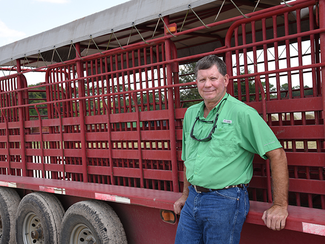 Stockyard owner Allen Wiggins says it's important to make sure stock trailers are safe and hauling weight limits are followed. (DTN/Progressive Farmer photo by Becky Mills)