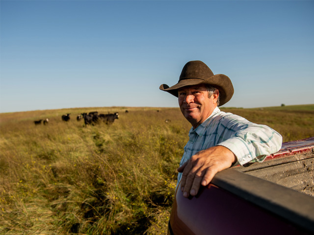 Dave Reis said he has more options today when it comes to managing around weather and herd size, thanks to a rotational grazing system. (DTN/Progressive Farmer photo by Greg Latza)