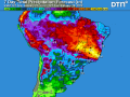 The major soybean-producing states of Mato Grosso, Parana and Rio Grande do Sul in Brazil continue to experience a favorable weather pattern with enough rain to support crop needs. (DTN graphic)