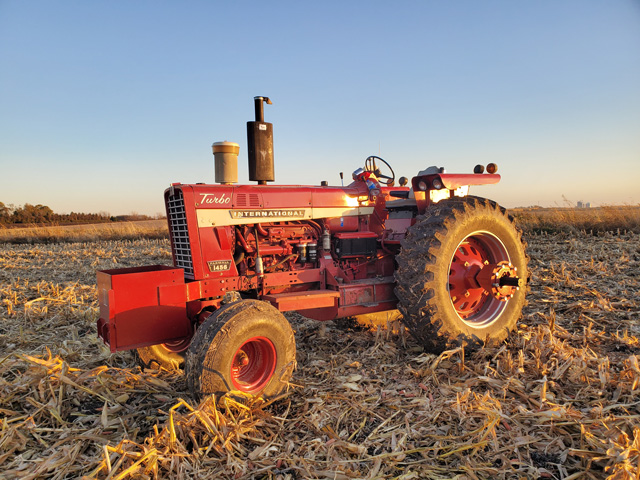 James Piotter of Sleepy Eye, Minnesota, owns this International 1456 tractor. The tractor is currently getting a restored factory cab installed, which was on it at one time. (Photo courtesy of James Piotter)