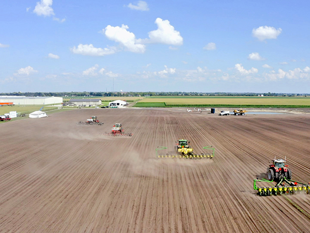 Farmers are invited to a 40-Acre sandbox at PTI where they can test drive various planters and experience first-hand the latest tech. (Progressive Farmer image provided by Precision Planting)