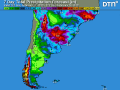Rainfall in Buenos Aires and Santa Fe in Argentina and southern Brazil has been limited; the next chance of any widespread, significant rainfall in these areas will not be until early next week. (DTN graphic)