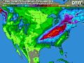 Widespread 1- to 3-inch precipitation, with a band of 3 to 5 inches, threatens to keep the eastern Midwest and northern Delta saturated, with potential flooding during the end of February into early March. (DTN graphic)