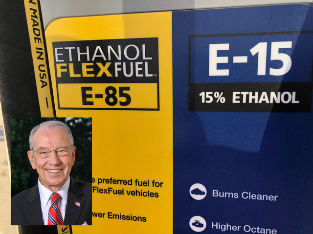 Sen. Chuck Grassley, R-Iowa, is one of the leaders in Congress pushing the Trump administration not to appeal a court ruling against EPA's small refinery exemptions. (DTN image)