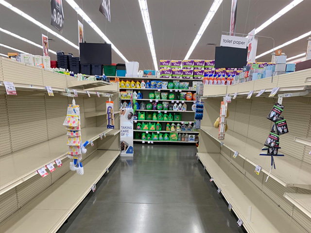 As Americans have tried to stock up at grocery stores in response to the coronavirus, President Donald Trump and America's grocery retailers are now stressing the importance of not hoarding products. (Courtesy photo by Felicity Neeley)