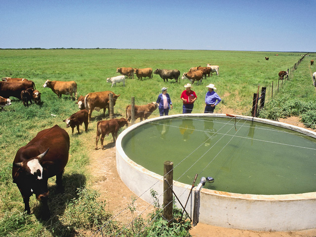 Livestock producers across the country have worked with NRCS experts to improve water resources on their farms. (Photo courtesy Ken Hammond, NRCS)