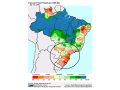 Most primary crop areas in Brazil have short to very short soil moisture; Mato Grosso is the exception. (USDA graphic)