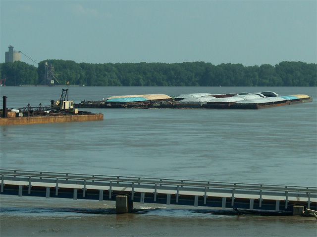 Most of the locks on the Mississippi River (a section of which is pictured in this file photo) between the Quad Cities and south of Quincy, Ill., have been closed due to high water, said Mike Steenhoek, executive director of the Soybean Transportation Coalition. (DTN file photo by Chris Clayton)