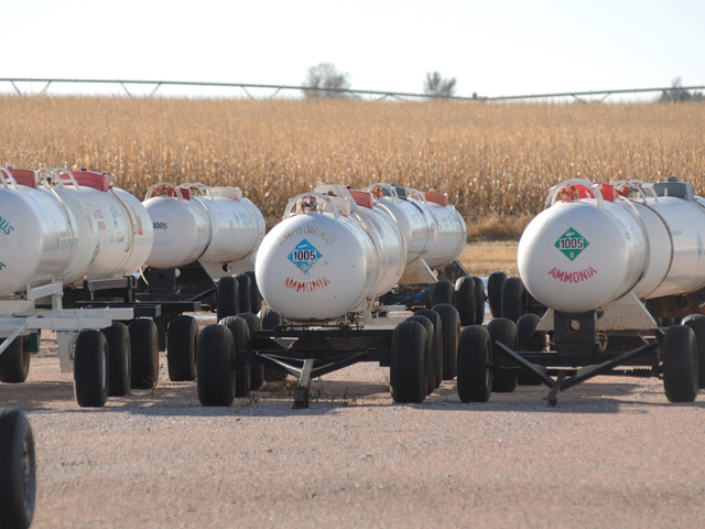 Some fertilizer retailers may stop selling anhydrous ammonia if planned changes to Occupational Safety and Health Administration regulations take effect. (DTN/The Progressive Farmer file photo)