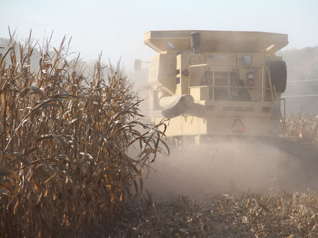 Avoid inhaling dust during harvest. (DTN photo by Elaine Shein)
