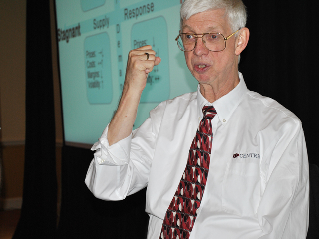 Purdue economist Mike Boehlje takes little comfort in agriculture's high net worth position because too much of industry wealth is concentrated in land. (DTN file photo by Marcia Zarley Taylor)
