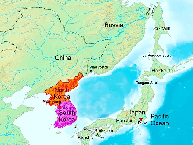 South Korean imports of beef have grown as domestic supplies fall and bird flu hurts chicken purchases. (Map courtesy of Wikimedia Commons)