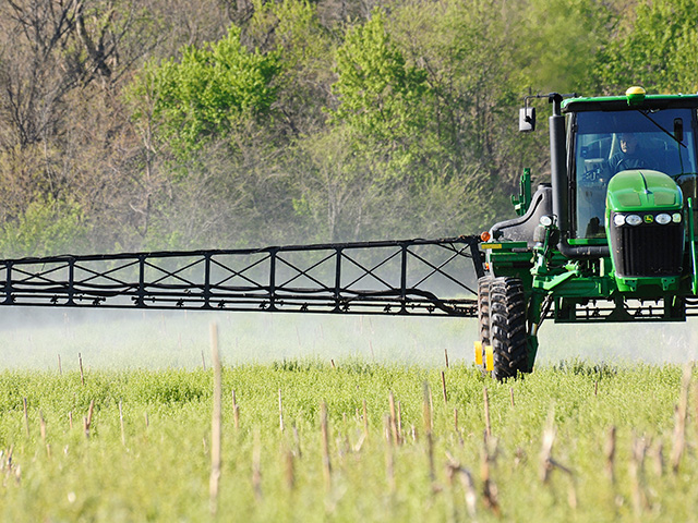 A federal judge granted a temporary restraining order against EPA's implementation of a new pesticide application exclusion zone rule. (DTN file photo by Jim Patrico)