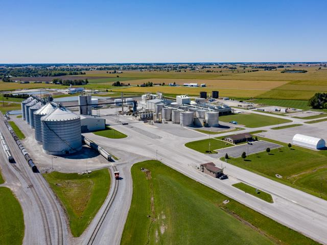 Poet LLC announced an expansion of purified alcohol production at its plant in Leipsic, Ohio. (Photo courtesy Poet LLC)