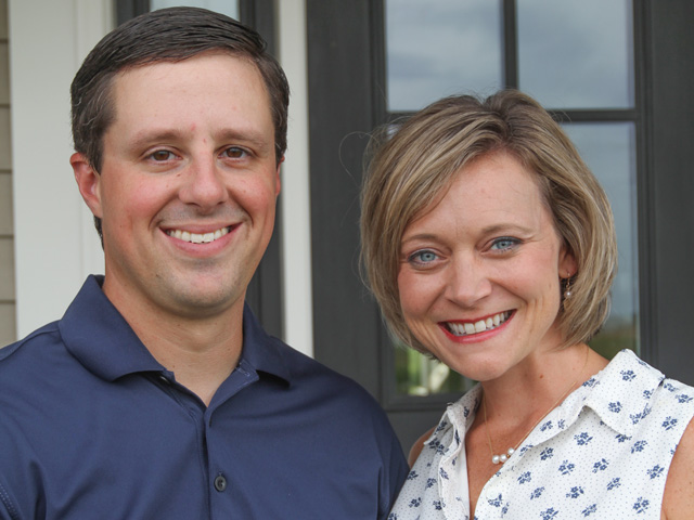 Coming home to farm was a calculated decision for Reid and Heather Thompson, of Colfax, Illinois. The young farmers have found ways to fit into a family operation. (Photo courtesy of Reid and Heather Thompson)