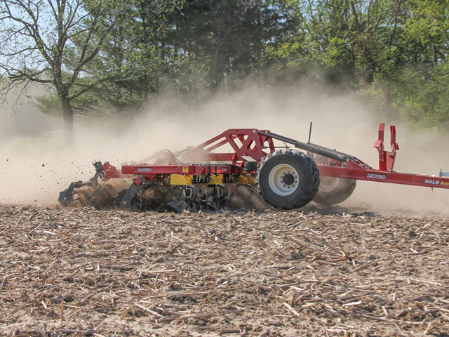 The HALO AerWay combines Salford and AerWay tillage technology for deep soil aeration and residue management. (Photo courtesy of Salford Group)