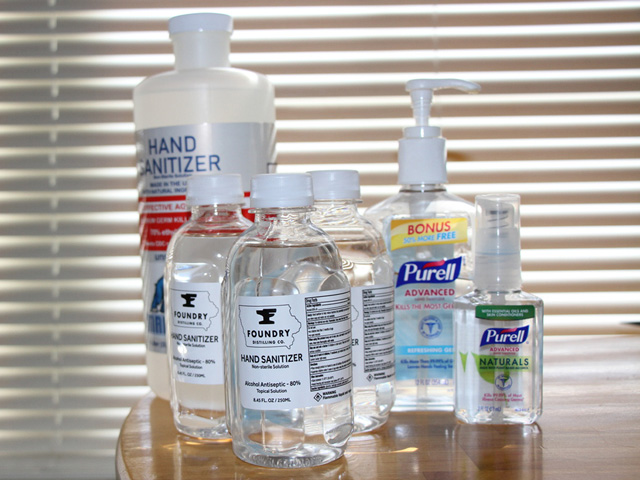 The Food and Drug Administration as updated restrictions on hand sanitizer produced at ethanol plants. (Photo by Elaine Shein)