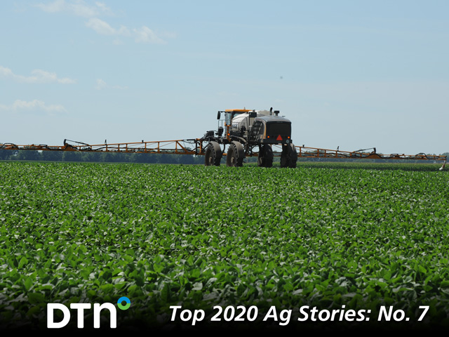 Farmers and the ag industry rode a legal rollercoaster in 2020, after a court decision vacated three dicamba registrations in the summer, only for EPA to issue new registrations in the fall. The drama is sure to continue in 2021, after environmental groups launched a new lawsuit against the registrations just before Christmas. (DTN photo by Pamela Smith)