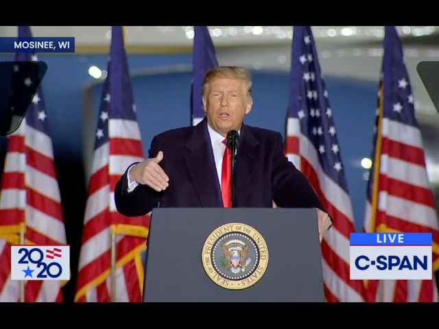 A political fight has flared over the Commodity Credit Corp. and how the Trump Administration uses those funds for political purposes. President Donald Trump announced a new aid package out of the CCC funds at a rally he held last week in Wisconsin. (DTN image from C-SPAN)